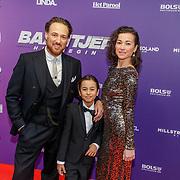NLD/Amsterdam/20190415 - Filmpremiere première Baantjer het Begin, Arne Toonen, ex partner Birgit Schuurman en zoon Chico