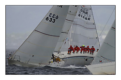 Yachting- The second start of the Bell Lawrie Scottish series 2002 at Inverkip racing to Tarbert Loch Fyne where racing continues over the weekend.<br /><br />Sigma 33s - Pepsi IRL633 with Squawk GBR8148R in the background.<br /><br />Pics Marc Turner / PFM