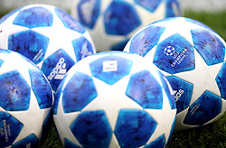 Close up of the offical Addidas match balls before the game