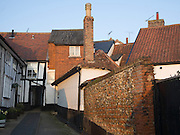 Alleyways and roofs at Framlingham, Suffolk, England