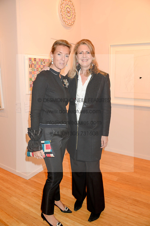 Left to right, FIONA DREESMAN and her sister in law MARIE CLARE AGNEW at the PAD Art and Design Fair 2013 Collectors Preview in Berkeley Square, London on 14th October 2013.