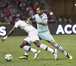 2018?7?28?.??????——?????????????????????????..7?28????????Henrikh Mkhitaryan?7??????????????Stanley Nsoki?34??????????????????????????.???? ??????..Arsenal player Henrikh Mkhitaryan (No 10, R) and Paris Saint-Germain player Stanley Nsoki (No 34, L) fights for the ball in the International Champions Cup match between Arsenal and Paris Saint-Germain held in Singapore's National Stadium on Jul 28, 2018..By Xinhua, Then Chih Wey..??????????2018?7?28? (Credit Image: © Then Chih Wey/Xinhua via ZUMA Wire)