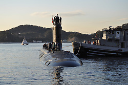 111122-N-DI599-015<br /> YOKOSUKA, Japan (November 22, 2011) The Virginia Class submarine USS Texas (SSN 775) is moored at Fleet Activities Yokosuka as part of its deployment to the Western Pacific Region.  (U.S. Navy photo by Mass Communications Specialist 1st Class David Mercil/Released)