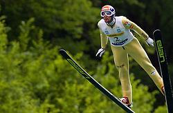 Jure Bogataj (SLO) of SK Triglav Kranj during Ski Jumping Summer Continental Cup in Kranj, on July 2, 2011, in Kranj, Slovenia. (Photo by Vid Ponikvar / Sportida)