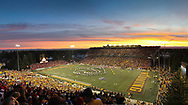 The Wyoming marching band performs in front of a crowd of 32,617 during Nebraska's 38-14 win over Wyoming at War Memorial Stadium in Laramie, Wyo., on Sept. 24, 2011. Photo by Aaron Babcock