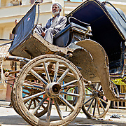 Horse-drawn carriages like this one could be used to carry tourists around the sights of Rashid.