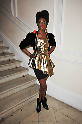 Singer Shingai Shoniwa at a photographic retrospective showcasing images from Guess's historic advertising campaigns held at Il Bottaccio, Grosvenor Place, London on 28th October 2009.