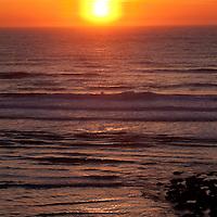 Sunset near Cannon Beach, Oregon.
