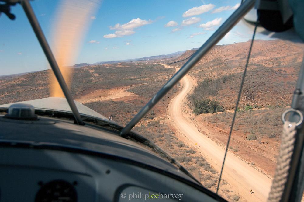 Flying above the Flinders Ranges, South Australia, Australia