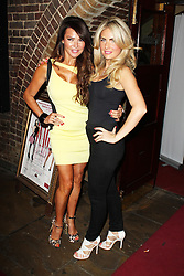 © Licensed to London News Pictures. 13/08/2013. LONDON. Lizzie Cundy & Pippa Fulton, WAG! The Musical - ViP Night, Charing Cross Theatre, London UK, 13 August 2013,Photo credit : Brett D. Cove/Piqtured/LNP