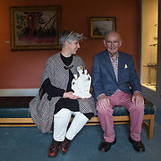"""28.10.2016         <br /> Irish Contemporary Ceramics Collection a joint project between Limerick School of Art and Design (LIT) and the Hunt Museum, Limerick. This year sees three new additions to the Irish Contemporary Ceramics Collection (ICCC). <br /> <br /> Pictured at he event in the Hunt Museum, Limerick was contributing artist Ingrid Murphy, originally from Cork with her father Brendan Murphy whom her piece """"A Day at the Hunt' was inspired by a visit to the Hunt Museum with her father.<br /> <br /> The artists were selected by a panel of representatives from the Hunt Museum, the Ceramics programme, Limerick School of Art and Design, Design and Crafts Council of Ireland and Ceramics Ireland.<br /> <br /> Work by Ingrid Murphy, Katharine West and Cormac Boydell will join this all-island collection. Boydell, based in Allihies, is known for his original and experimental handling of clay. He describes his use of imagery as born out of the rugged coastal environment in which he lives and the history and myth of this land. Murphy, originally from Cork, has lived and worked in Wales since 1990 and her work carries a sense of irony rarely seen among Irish-based artists. West is a sculptor based in Galway. Her work, both subtle and sensitive, responds to landscape and the human body in non-obvious ways.<br /> <br />  Now in its second year, it is envisioned that this joint project between Limerick School of Art and Design (LIT) and the Hunt Museum, Limerick, where the collection is housed, will grow annually to reflect the richness, diversity and creativity of contemporary Irish ceramic practice. Picture: Alan Place"""