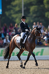 Lepiste Maiken, (EST), Funfun HB<br /> Small Final 5 years old horses<br /> World Championship Young Dressage Horses - Verden 2015<br /> © Hippo Foto - Dirk Caremans<br /> 07/08/15