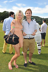 Left to right, VICTORIA TOFT CHRISTENSEN and the HON.WILLIAM PRESTON at a cricket match to in aid of CARE - Corfu Animal Rescue Establishment held at Hawkley Cricket Club, Hawkley, Hampshire on 8th September 2012.