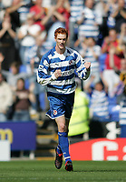 Photo: Lee Earle.<br /> Reading v Middlesbrough. The Barclays Premiership. 19/08/2006. Reading's Dave Kitson celebrates scoring their first.