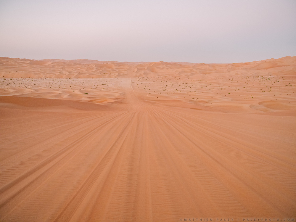 View over the Rub' al Khali or Empty Quarter, the largest uninterrupted sand mass in the world.