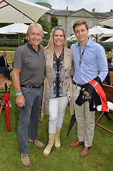 DEREK & MISTI BELL with their son SEBASTIAN BELL at the Cartier hosted Style et Lux at The Goodwood Festival of Speed at Goodwood House, West Sussex on 26th June 2016.