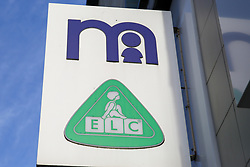 © Licensed to London News Pictures. 04/11/2019. London, UK. Logo of Mothercare outside its Wood Green branch in north London. <br /> Mothercare - the mother-and-baby retailer and an Early Learning Centre is to appoint administrators for its 79 UK high street stores following lost of £36.3m last year and putting 2,500 jobs at risk. Photo credit: Dinendra Haria/LNP