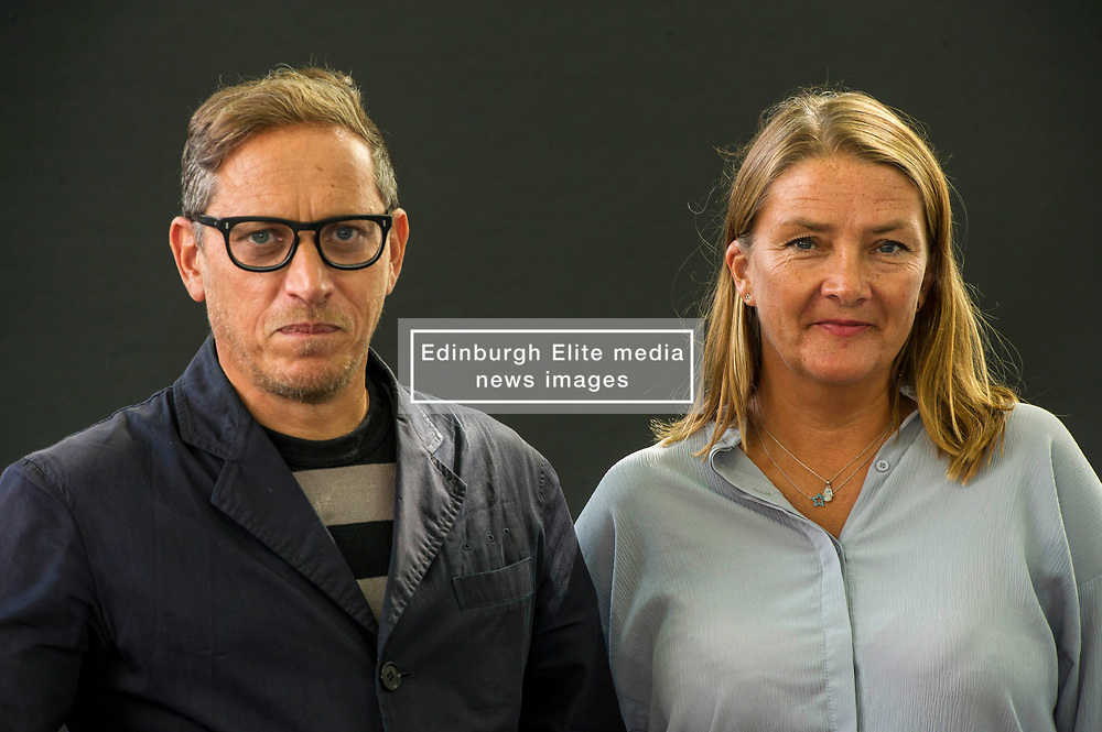 Pictured: Investigative reporters Cathy Scott-Clark and Adrian Levy's The Exile starts with a detailed account of Bin Laden's  movements up to his assassination. When the US air strikes began, he flitted through various locations in Afghanistan, all the while trying to manage the movements of his wives and children. <br /> <br /> Book fanatics headed to Charlotte Square in Edinburgh which is the hub of the international Book Festival to meet the authors and also to meet up with fellow fans of the printed word.<br /> <br /> 27 August 2017