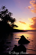 sunset on Na Pali coast,<br /> Kauai, Hawaii, USA ( Pacific )