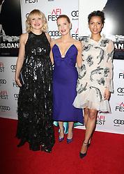 Alison Pill, Jessica Chastain, Gugu Mbatha-Raw bei der Premiere von Miss Sloane in Los Angeles<br /> <br /> / 111116<br /> <br /> <br /> ***Premiere von Miss Sloane in Los Angeles on november 11, 2016***