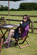 DAPHNA FISHER, The Dalwhinnie Crook  charity Polo match  at Longdole  Polo Club, Birdlip  hosted by the Halcyon Gallery. . 12 June 2010. -DO NOT ARCHIVE-© Copyright Photograph by Dafydd Jones. 248 Clapham Rd. London SW9 0PZ. Tel 0207 820 0771. www.dafjones.com.