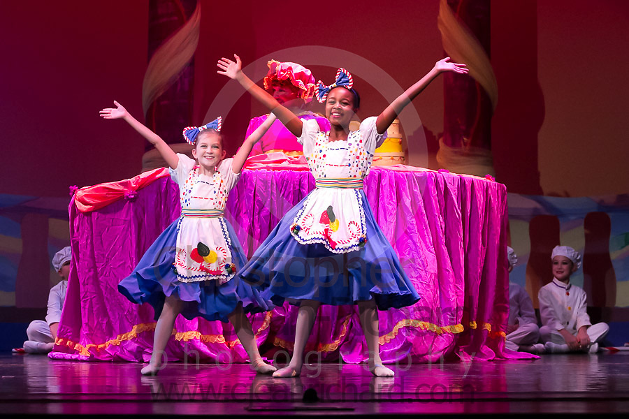 Students of the Payne Academy of Performing Arts and Woodlands Ballet Ensemble on stage in the Dress Rehearsal of The Nutcracker.<br /> <br /> November 2015<br /> The Woodlands College Park High School.<br /> The Woodlands, Texas