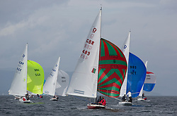 International Dragon Class Scottish Championships 2015.<br /> <br /> Day 1 racing in perfect conditions.<br /> <br /> GBR489, KESTRA, Richard Leask, Royal Forth YC\<br /> <br /> <br /> Credit Marc Turner