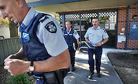 Mitta Mitta, one policeman town. Following the working life of Leading Senior Constable John Kissane. Kissane left with police from Tallangatta station on their way to a domestic disturbance. Pic By Craig Sillitoe CSZ/The Sunday Age.27/03/2012 This photograph can be used for non commercial uses with attribution. Credit: Craig Sillitoe Photography / http://www.csillitoe.com<br /> <br /> It is protected under the Creative Commons Attribution-NonCommercial-ShareAlike 4.0 International License. To view a copy of this license, visit http://creativecommons.org/licenses/by-nc-sa/4.0/.