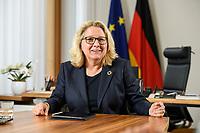 30 JUN 2021, BERLIN/GERMANY:<br /> Svenja Schulze, SPD, Bundesumweltministerin, waehrend einem Interview, in ihrem Büro, Bundesumweltministerium<br /> IMAGE: 20210630-01-011<br /> KEYWORDS: Büro