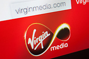 Computer screen showing the website for Virgin Media.