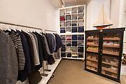 Stylish male fashion shop, Present London, on 14th October 2015 in London, United Kingdom.