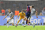 Barcelona Luis Suárez shoots during the Champions League Final between Juventus FC and FC Barcelona at the Olympiastadion, Berlin, Germany on 6 June 2015. Photo by Phil Duncan.