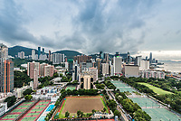cityscape at Victoria Park Causeway Bay in Hong Kong