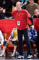 Coach of Metz Francois Bertrand at handball match of Round 5 of Champions League between RK Krim Mercator and Metz Handball, France, on January 9, 2010 in Kodeljevo, Ljubljana, Slovenia. (Photo by Vid Ponikvar / Sportida)
