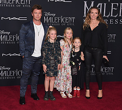 """world premiere of """"Maleficent: Mistress of Evil"""" held at the El Capitan Theatre on September 30, 2019 in Hollywood, CA. © O'Connor/AFF-USA.com. 30 Sep 2019 Pictured: Luke Hemsworth, Holly Hemsworth, Harper Rose Hemsworth, Alexandr. Photo credit: O'Connor/AFF-USA.com / MEGA TheMegaAgency.com +1 888 505 6342"""