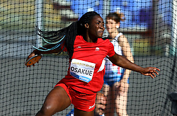 May 31, 2018 - Rome, Italy - Daisy Osakue (ITA) competes in discus throw women during Golden Gala Iaaf Diamond League Rome 2018 at Olimpico Stadium in Rome, Italy on May 31, 2018. (Credit Image: © Matteo Ciambelli/NurPhoto via ZUMA Press)