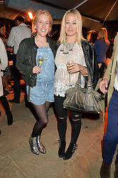 PICTURE SHOWS:-Left to right, DAISY BLOUNT and ELLIE SHEPPARD.<br /> Tuesday 14th April 2015 saw a host of London influencers and VIP faces gather together to celebrate the launch of The Ivy Chelsea Garden. Live entertainment was provided by jazz-trio The Blind Tigers, whilst guests enjoyed Moët & Chandon Champagne, alongside a series of delicious canapés created by the restaurant's Executive Chef, Sean Burbidge.<br /> The evening showcased The Ivy Chelsea Garden to two hundred VIPs and Chelsea<br /> residents, inviting guests to preview the restaurant and gardens which marry<br /> approachable sophistication and familiar luxury with an underlying feeling of glamour and theatre. The Ivy Chelsea Garden's interiors have been designed by Martin Brudnizki Design Studio, and cleverly combine vintage with luxury, resulting in a space that is both alluring and down-to-earth.