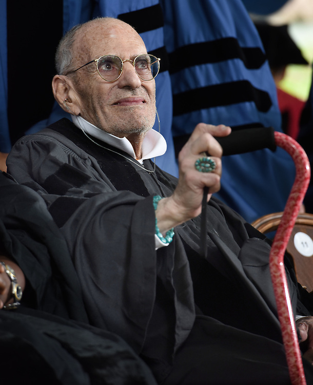 Honorary degrees were awarded at Yale University's 314th Commencement, New Haven, CT. Playwright and AIDS activist Larry Kramer was a recipient.