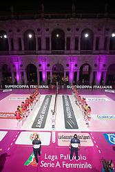 SUPERCOPPA 2020-2021 PALLAVOLO FEMMINILE <br /> UNET E-WORK BUSTO ARSIZIO - IGOR GORGONZOLA NOVARA<br /> PIAZZA DEI SIGNORI<br /> VICENZA 04-09-2020<br /> FOTO FILIPPO RUBIN