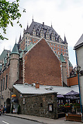 Along Rue Saint Louis and the Chateau Frontenac, Quebec, Canada.