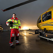 Paul Swinton. Award-winning paramedic and first paramedic in Scotland to undertake a world-leading trauma course; hopes to use what he's learned to change how first responders and frontline medics in Scotland treat trauma injuries.  At SCOTSTAR Scottish ambulance base at Glasgow airport. Picture Robert Perry for The Herald and Evening Times 23rd Dec 2016