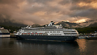 Holland America Line Ryndam Cruise Ship in Ketchikan. Image taken with a Nikon D300 camera and 70-300 mm VR lens.