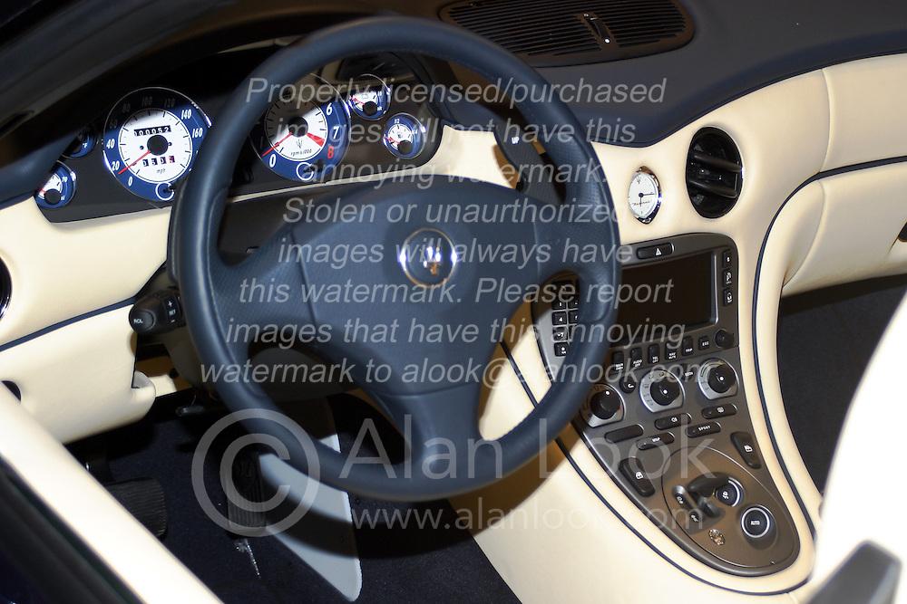 2005 CATA (Chicago Auto Show)<br /> Maserati interior - driver compartment