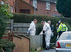 © under license to London News Pictures. 13/12/2010 Forensics attend the scene of  murder in Banbury, Oxfordshire today (Mon). A man was arrested in Swindon today following the discovery of two bodies at a property in Mold Crescent, Banbury, in the early hours of this morning (13/12/2010). Photo credit should read London News Pictures.