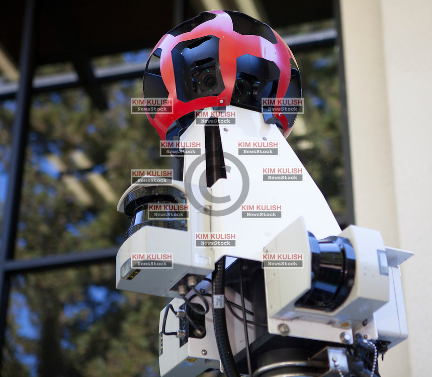 Scenes of daily work and life at Google Inc. USA Headquarters in Mountain View, California.  Cameras on a Google map car.