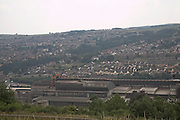 Stocksbridge steelworks and town in Pennine Hills near Sheffield Yorkshire England