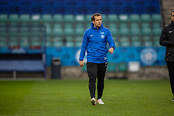 TALLINN, ESTONIA - Sunday, October 10, 2021: Estonia's 37-year-old captain Konstantin Vassiljev during a training session at the A. Le Coq Arena ahead of the FIFA World Cup Qatar 2022 Qualifying Group E match between Estonia and Wales. (Pic by David Rawcliffe/Propaganda)