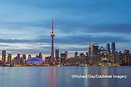 60912-00112 City Skyline at dusk Toronto, ON Canada