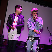 London,England,UK. 14th May 2017. Franklin lake preforms at the after party of the BBL Play-Off Finals also fundraising for Hoops Aid 2017 but also a major fundraising opportunity for the Sports Traider Charity at London's O2 Arena, UK. by See Li
