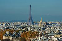 France, Paris (75), la Tour Eiffel et les Invalides // France, Paris, Eiffel Tower and Hotel des Invalides